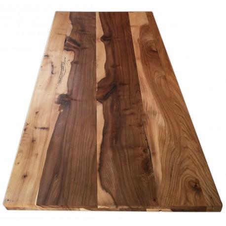 Massivholztisch ulmentisch schweizerholztisch for Designer tischplatten
